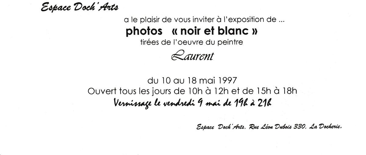 Exposition de photos noir et blanc à l'Espace Doch'Arts