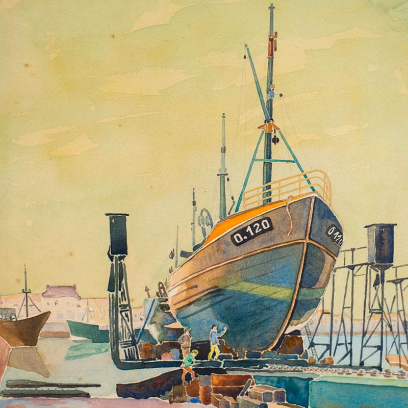 Emile Laurent série les bateaux