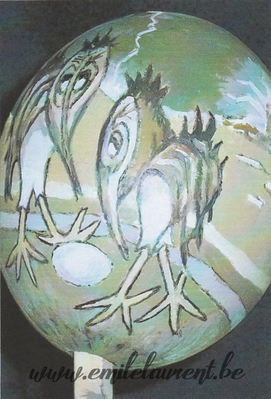 Ornithoflox peints sur œuf d'autruche