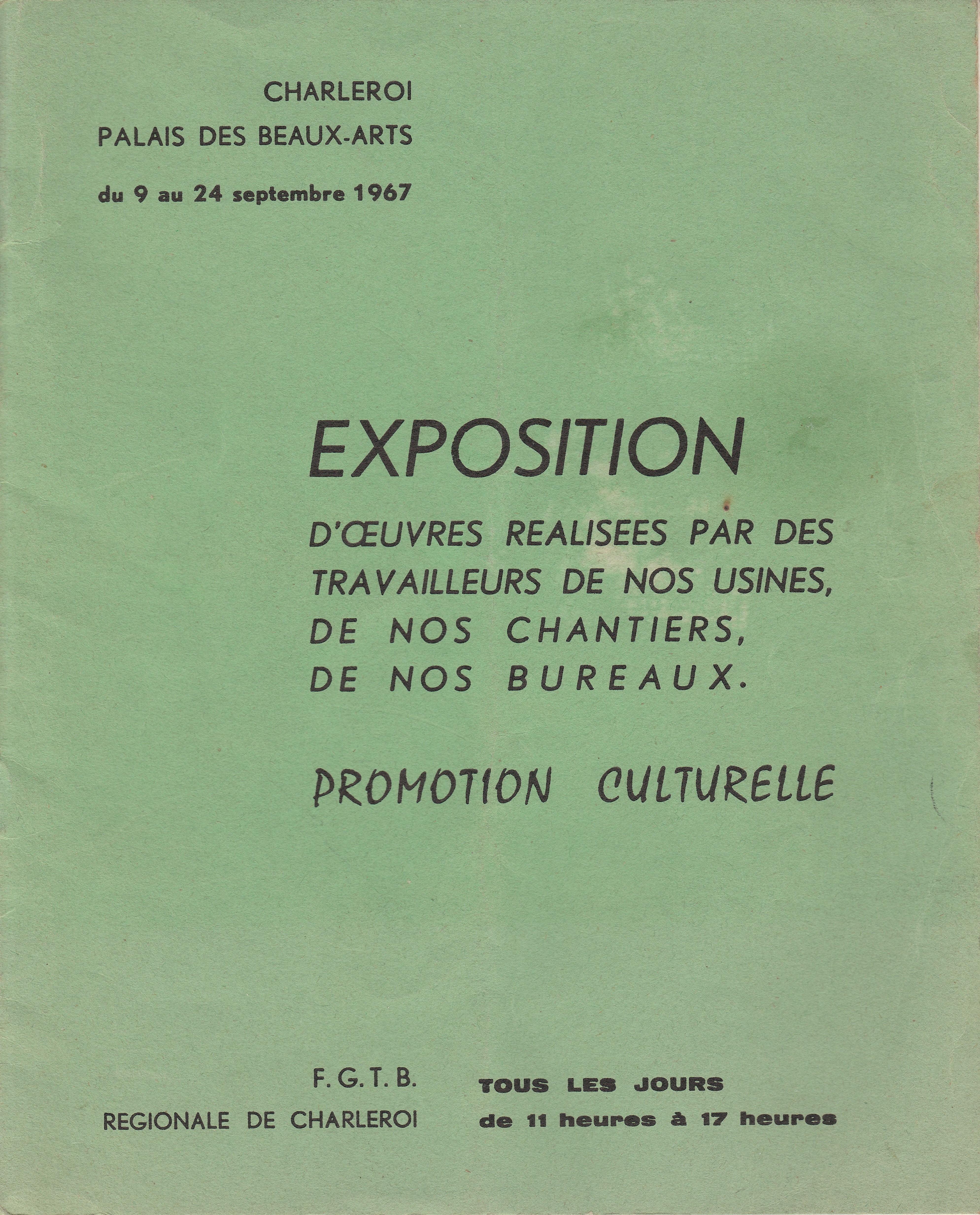 Exposition au Palais des Beaux Arts de Charleroi
