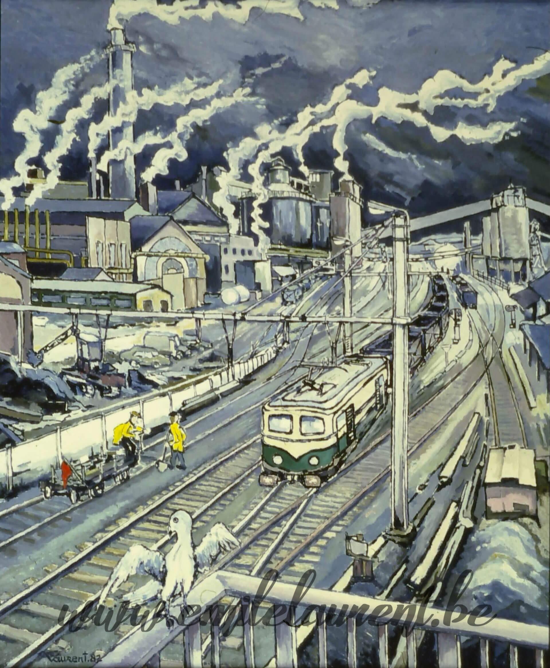 Solvay vu du pont
