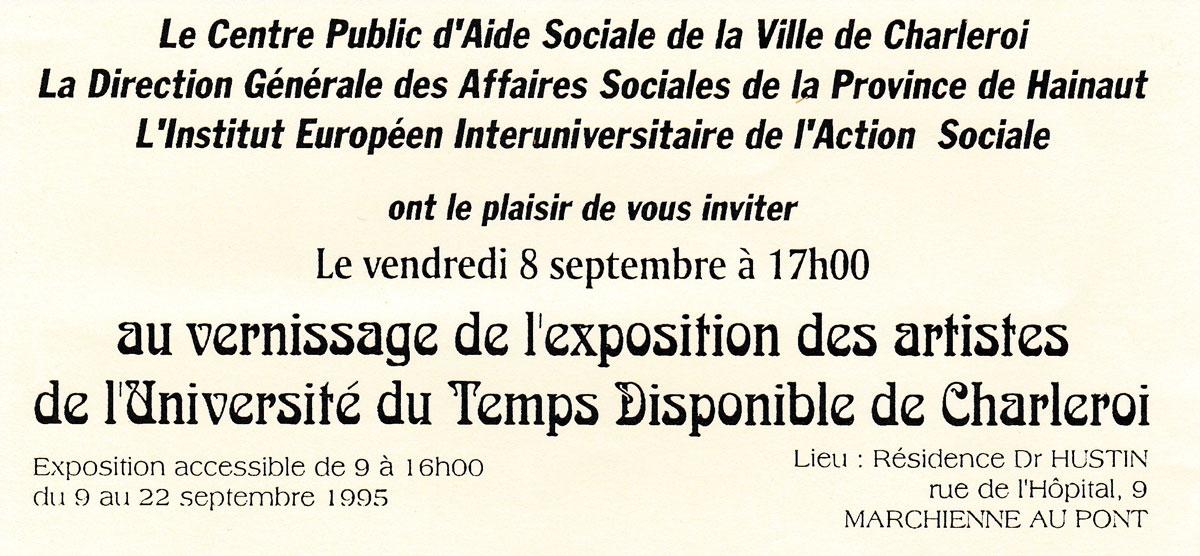 Exposition des Artistes de l'Université du Temps Disponible de Charleroi