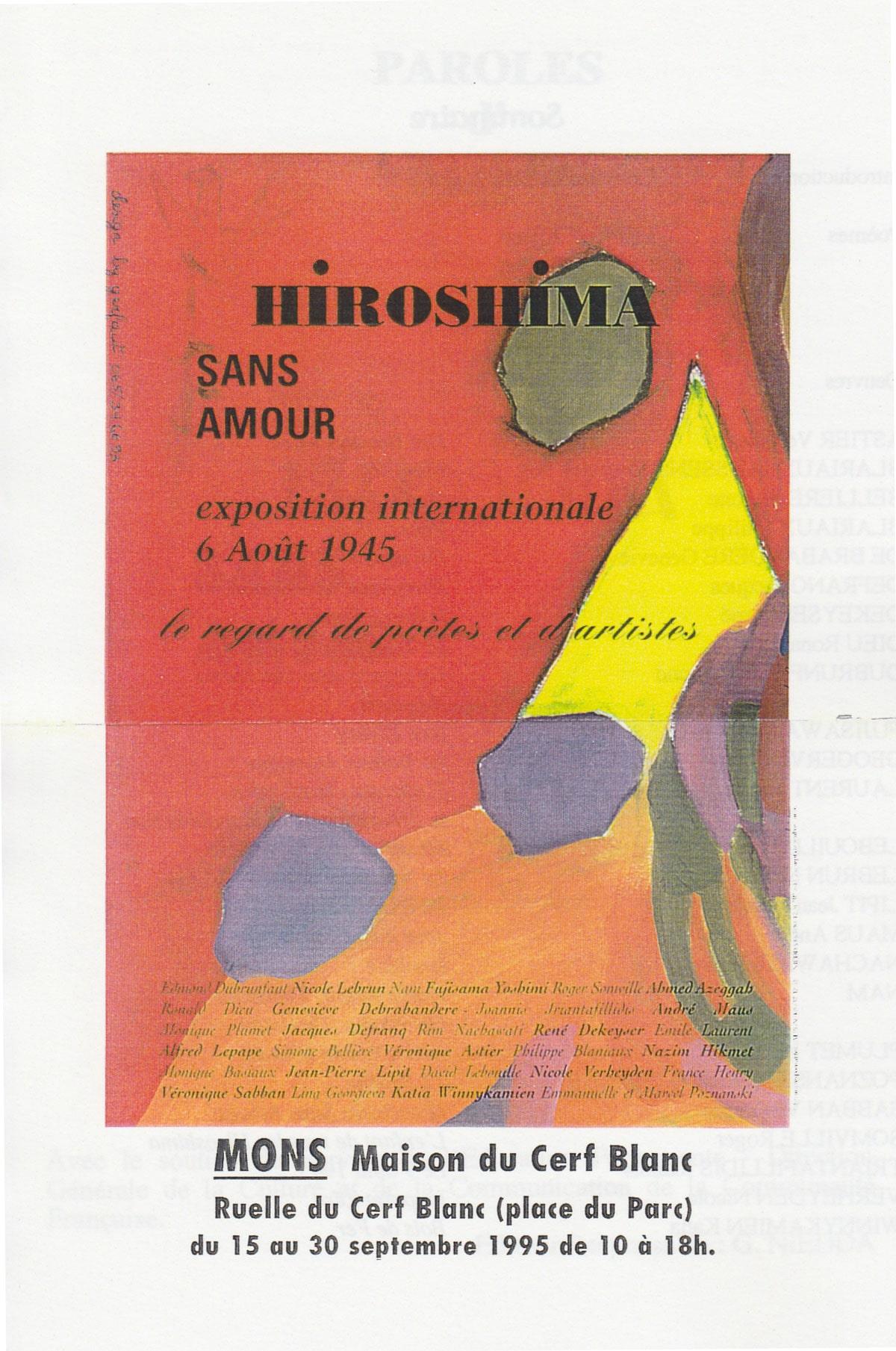Exposition «Hiroshima sans Amour»